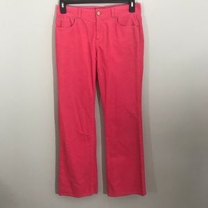 Lilly Pulitzer pink corduroy main line fit pants 6